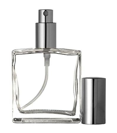 01897df0ded4 Riverrun Perfume/Cologne Atomizer, Empty Refillable Glass Bottle, Silver  Sprayer 3.4 oz 100ml (Set of 3)