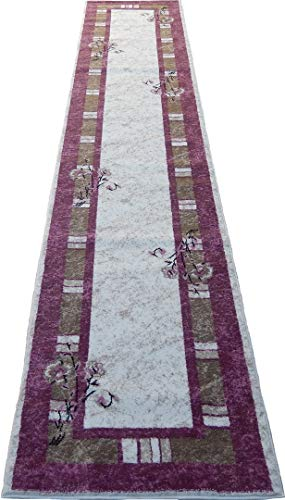 Persian Floral Rosas 3x12 Area Rug Runner Pink Cream Actual Size 2'3 x 12'