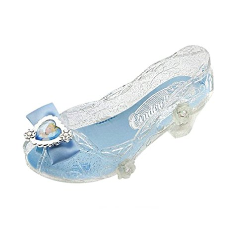 Disney Store Deluxe Cinderella Light Up Shoes Glass Slippers Size 9 - 10 M US Toddler