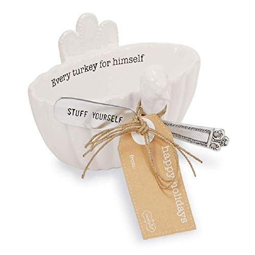 Mud Pie Thanksgiving Every Turkey Turkey Dip Bowl Set of 2