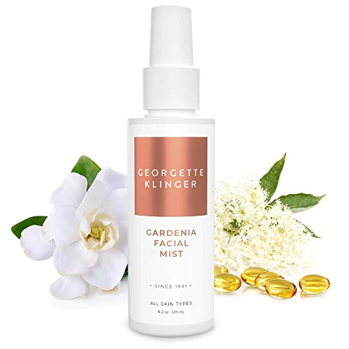 Georgette Klinger Gardenia Facial Mist - Hydrating & Refreshing Treatment Infused with Collagen & Vitamins A,B,E & F - Moisturizing & Soothing Facial Spray for All Skin -