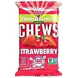 Bonk Breaker Nutrition Energy Chews with Caffeine, Strawberry, 1.76 Oz (10 Count), Gluten Free & Dairy Free