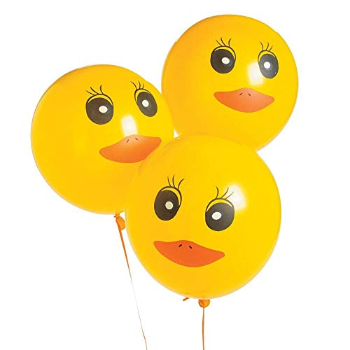 Duck Printed Latex Balloons - 48