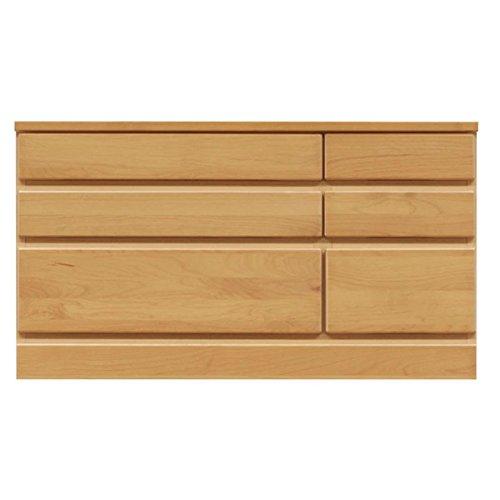 3段チェスト/ローチェスト 〔幅90cm〕 木製(天然木) 日本製 ナチュラル 〔完成品〕〔代引不可〕 B0793Q25GS