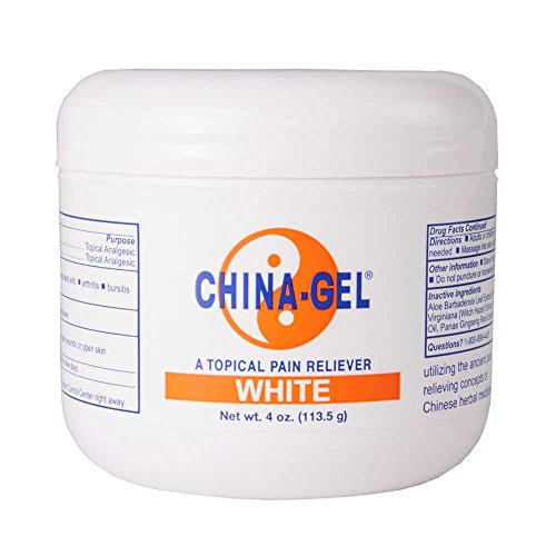 China-Gel Pain Relieving Rub 4 oz Jar White