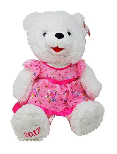 2017 Holiday 20  Stuffed Christmas Pink Girl Teddy Bear