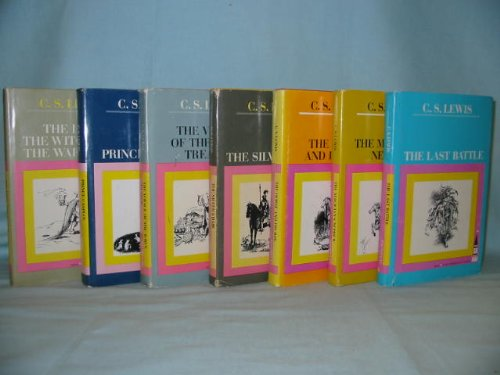 1950's First Edition Hardcovers with Sleeves, Seven Volume Set, Narnia Series, the Lion, the Witch and the Wardrobe, Prince Caspian, the Voyage of the Dawn Treader, the Silver Chair, the Horse and His Boy, the Magicians Nephew, the Last Battle (Narnia Series)