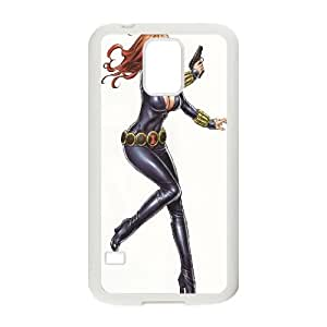 Black Widow Comic Samsung Galaxy S5 Cell Phone Case White Customized Toy pxf005_9656195