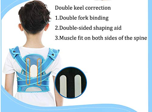 YSHS Anti-Humpback Correction Belt - Back Sitting Spine Correction Clothing Student Child Stealth Correction Prevention Myopia,Blue,L by YSHS (Image #2)