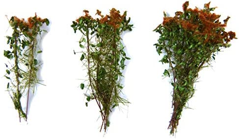 グリーンスタッフワールド 背丈の有る潅木 ブラウングリーン (茎の長さ:4cm) 情景用素材 GSWD-9930
