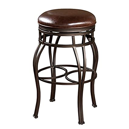 Amazoncom Delaware 34 Inch Tall Swivel Wood Barstool Kitchen Dining