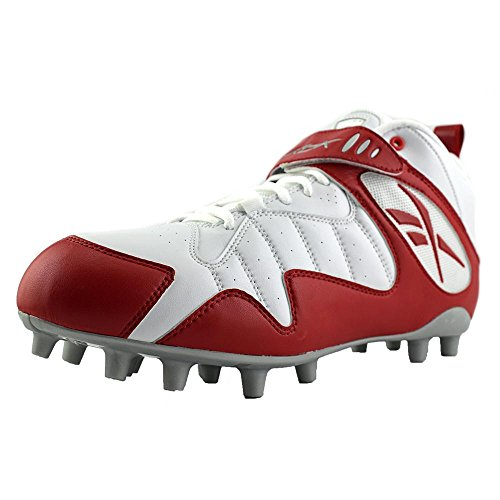 Reebok Pro All Out One Mid Mp Mens Voetbalcleats Wit Rood 15