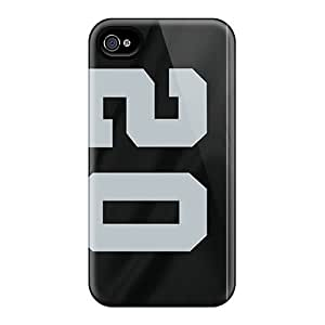 L.M.CASE Premium Protective Hard Case For Iphone 4/4s- Nice Design - Oakland Raiders