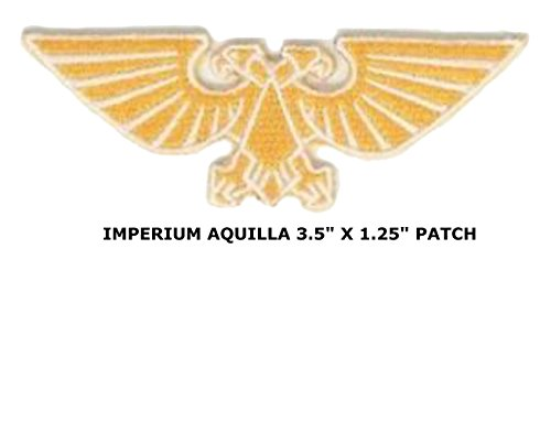 """Price comparison product image Outlander Gear Warhammer 40K Imperial Aquila 3.5"""" X 1.25"""" Logo Embroidered Iron / Sew-on Applique Patch"""