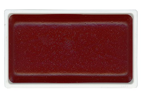 KitAbility Gansai Tambi Watercolor Paint Pan Wine Red Number 36 Single Solid Color fits in 12 18 24 and 36 Trays Japanese Traditional Solid Water Color