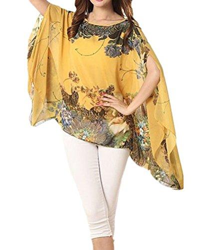 YiYaYo Batwing Chiffon Stretchy Pullover product image