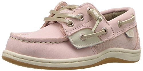Sperry Girls' Songfish JR A/C Boat Shoe,Blush,7 Wide US Toddler
