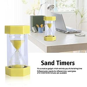 Cristal de Arena de Vidrio Reloj de Arena 3/10/20/30/60 Minutos Temporizador Reloj Decoración de la Oficina en Casa Regalo(30 Minutos Rojo) 5