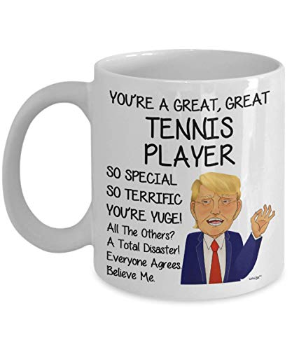 Tennis Player Gifts for Men Women Coffee Mug - Funny Playing Tennis Ball Play Birthday Christmas Gag Tea Cup 11 Oz Whizk MTR609