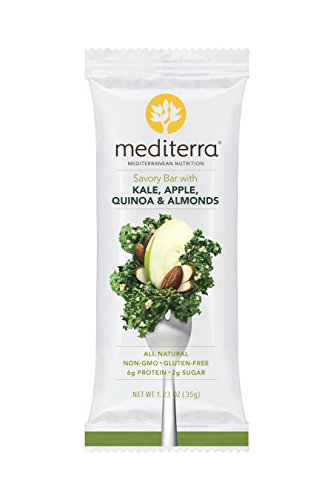 Mediterra | Savory Nutritional Bars | Kale & Green Apple | non-GMO | Gluten-Free (12 count)