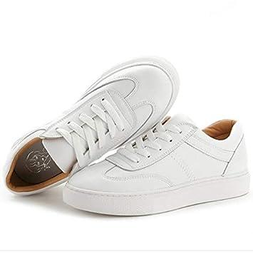Cerrado Flat Zapatos Sneakers ZHZNVX es libre Amazon Nappa Mujer aire Comfort PrimaveraVerano Punta con Deportes LeatherCowhide Blanca de Heel y vqq4d8