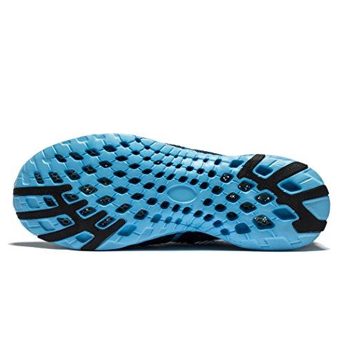 Daillor ,  Damen Durchgängies Plateau Sandalen mit Keilabsatz Blau
