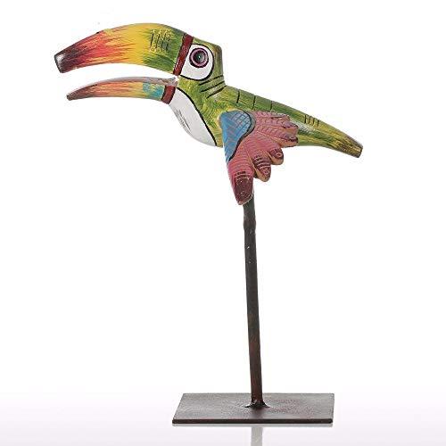 YZDSBD Statues Figurines Sculptures Tropical Bird Resin Sculpture Fiberglass Ornament Indoor Decor Statue Figurine Abstract Exaggerate Modern Art ()