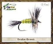 Fly Fishing Flies - Green Drake - Dry Fly (3-Pack)