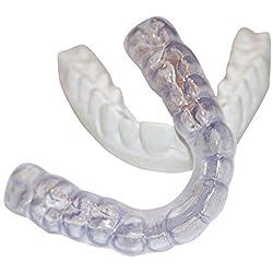 Dental Lab Custom Teeth Night Guard - Medium Firmness(not a hard guard) LOWER TEETH - Protect Teeth From Grinding, Clenching, Bruxism - Medium Density - Soft but Strong Teeth Mouth Guard