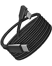 5M Type C Snelle oplaadkabel, compatibel met Oculus Quest 2 USB C tot C Gevlochten kabelgegevens Transmissiedraad Ondersteuning Hoge snelheid Gegevensoverdracht Zwart