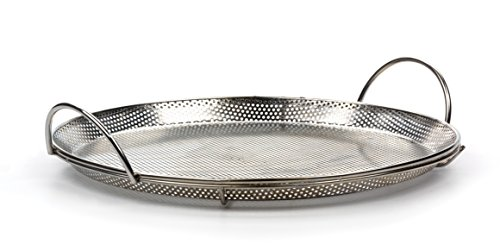 RSVP International Endurance Stainless Steel Precision Pierced Pizza Pan (BQ-PZA)