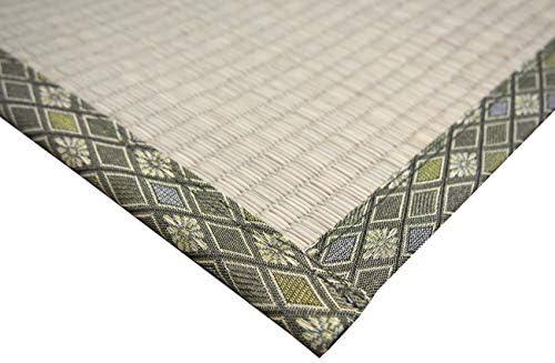 萩原 い草 上敷き カーペット グリーン 61間3畳 双目織 撥水加工 「備前」 158009230