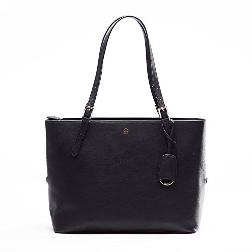 Tote Bag For Women,Miss Fong RFID Shoulder Bag For Women Travel Tote Bag with In Bag Organizer (Black) by miss fong (Image #7)
