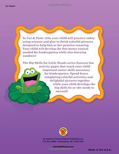 Cut & Paste 123s Workbook, Grades Preschool - K (Big Skills for Little Hands®)