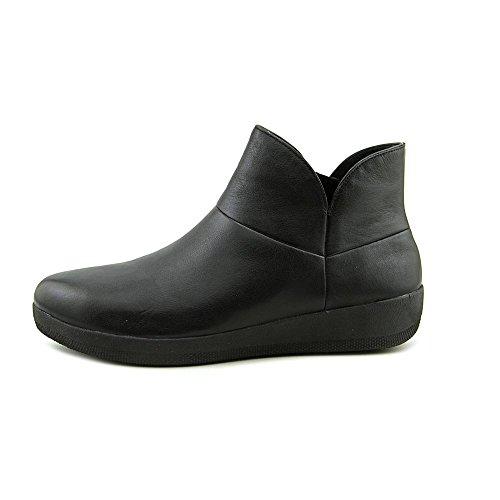Fitflop Mujeres Supermod Botín De Piel Todo Negro UK5.5 All Black