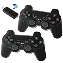 C-Zone 2.4GHz USB Twins Wireless game Controller Gamepad Joystick for Android Smartphones Tablets PC Samsung Galaxy S6 Edge Plus S5 S4 Note/5 4 Sony Xperia/Z5 Z4 Z3-Black