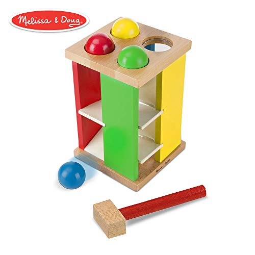 Melissa & Doug Pound & Roll Tower (Developmental Toy, Classic Pounding Toy, Bright-Colored Pieces, Durable -