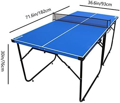 IFOYO Mesa de Ping-Pong 1,8 m, 4 Piezas Plegables, portátil, para Uso en Interiores, para Adulto y niños en Color Azul: Amazon.es: Deportes y aire libre
