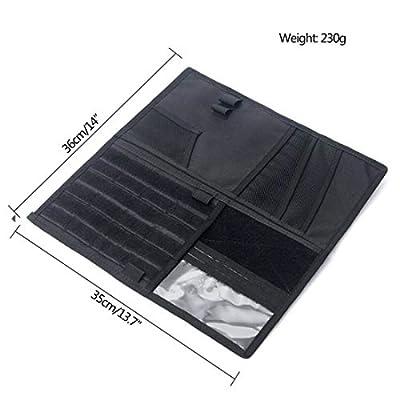 LIVIQILY Tactical Molle Vehicle Visor Panel Car Sun Visor Organizer Holder Storage Bag Pouch for Most Vehicle (Black): Electronics
