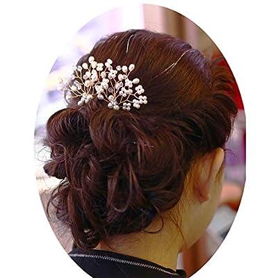 Bridal Hair Accessories Bridal Hair Comb Wedding Hair Pins Pearl Hair Pins Crystal Hair Pins Wedding Hair Accessories for Brides and Bridesmaids