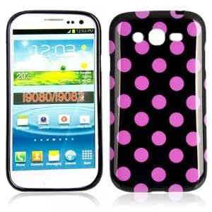 Dot TPU Case for Samsung I9082 Black Bottom Purple Dot