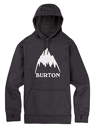 Burton Men's Performance Oak Pullover, True Black Heather/Stout White, Size Large