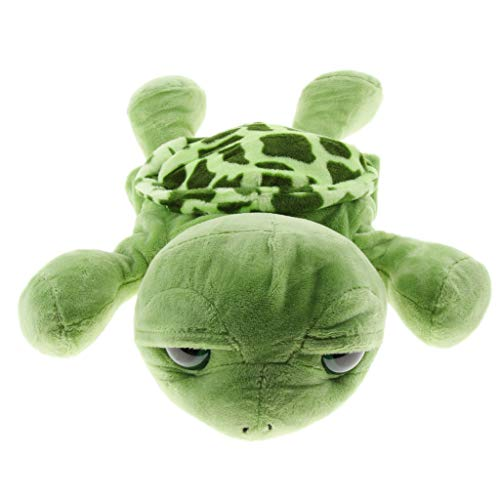 - Flameer 12'' Soft Plush Zoo Animals Hand Puppets with Movable Open Mouths for Pretend Role Play - Turtle, as described