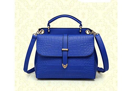 La nueva ola de bolsos de la manera, hombro, paquete diagonal del bolso del patrón de cocodrilo blue