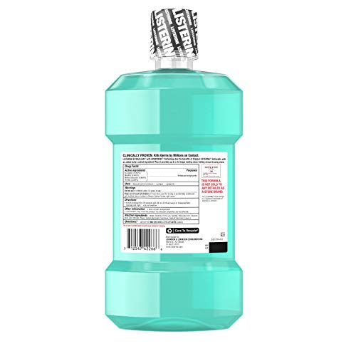 Listerine Ultra Clean Cool Mint Mouthwash, 50.7 Ounce Pack of 6