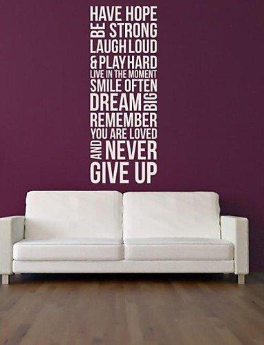 LT jiubai TM Casa normalmente Inspiration Palabra de pared ...