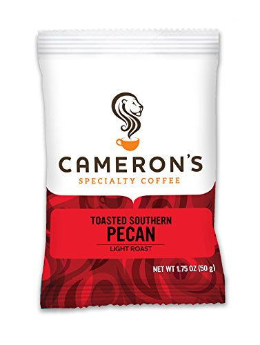 Cameron's Coffee Roasted Ground Coffee Bags, Flavored, Toasted Southern Pecan, 1.75 Ounce (Pack of 24)