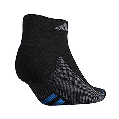 adidas Women's Superlite Stripe Low Cut Socks (3-Pair), Black/Glory Blue/Solar Blue/Glory Purple/Flash Pin, Medium, (Shoe Size 5-10): Clothing