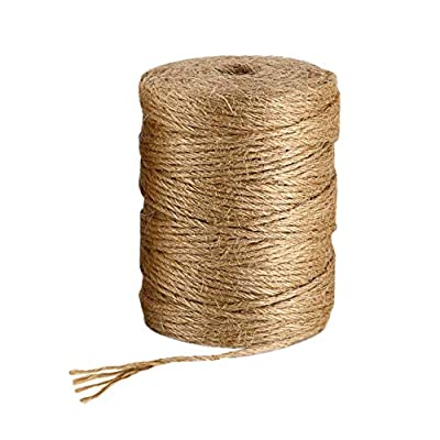 BESROY Twine String for Crafts 100M (328 Feet) Natural Jute Twine Best Arts Crafts Gift Twine Christmas Twine Durable Packing String for Gardening Applications: Health & Personal Care