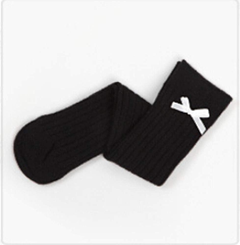 Baby Girls Bowknot Solid Color Knee High Socks Kids Cotton Over Knee Socks